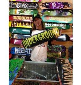 Underground Sk8 Underground Creepy Text UG Logo 8.25 Green/Black Deck