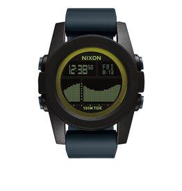 Nixon Nixon Unit Tide Black Dark Gray Chartreuse Watch