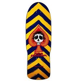 Skate One Powell Peralta Steve Steadham Skull and Spade Blue/Yellow Deck - 10 x 30.125