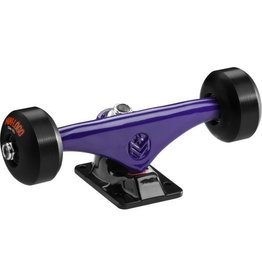 "Skate One Mini Logo Truck Assembly - 8"" Split Purple/Black - ML Bearings - 53mm 101a Black Wheels. Comes with 2 set up trucks."