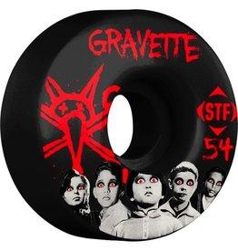Skate One BONES WHEELS STF Pro Gravette Seed 54mm Black Wheels 4pk