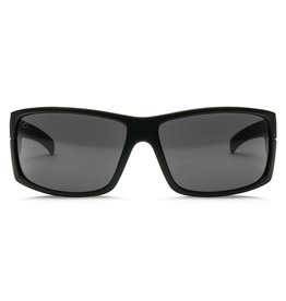 Electric Visual Electric Mudslinger Matte Black Frame Melanin grey Polarized Level 1 Sunglasses
