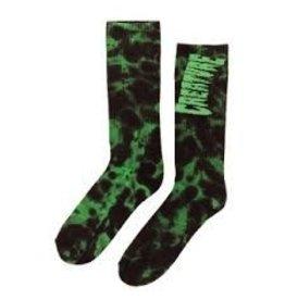 Skate Creature Toxsocks Crew Socks Blk/Grn Tie-Dye 9-11