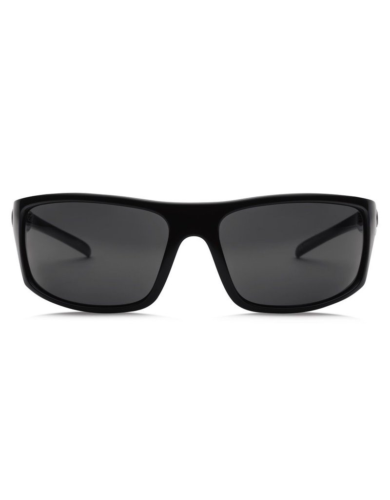 Electric Visual Electric Tech One Gloss Black Frame Melanin Grey Polarized Level 1 Lens Sunglasses