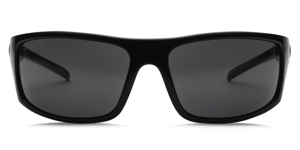 Electric Visual Electric Tech One Gloss Black Frame Melanin Grey Polarized Level 1 Lens Sunglasses