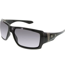 Oakley Oakley Big Taco Polished Black Frame Warm Grey Lens Sunglasses OO9173-01
