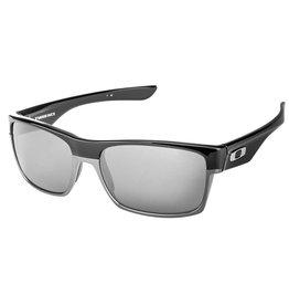 Oakley Oakley Polarized TwoFace Polished Black Frame Chrome Iridium Polarized Lens Sunglasses OO9189-01