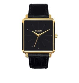 Nixon Nixon K Squared Gold / Black Gator Watch Womens