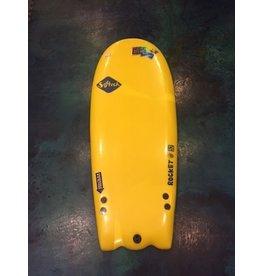 "FCS Softech Rocket Attack 52"" Yellow Softboard Surfboard"