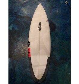 """JS Industries JS Blak Box 2 Round 5 Fin 5'10"""" 19 3/4 x 2 3/8  28.7L Round Tail FCS II Five Fin Surfboard"""