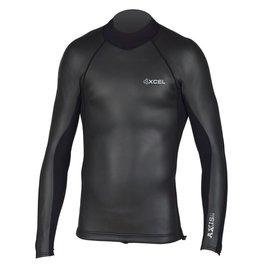 XCEL Xcel Axis Smoothskin Back Zip Wetsuit Top 2/1 Black Large Mens