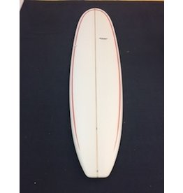 Starr Surfboards Starr 7'0 Funshape Squash Tail Red Pin Stripes Surfboard