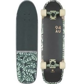 """Globe Globe Fat Bruiser 30"""" Complete Skateboard Black/Monstera"""