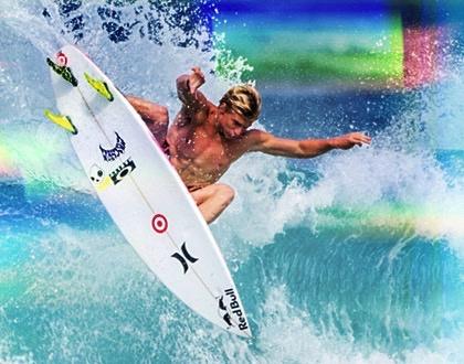 FCS FCS II KA PC Tri Set Thruster Surfboard Fins Small Kolohe Andino