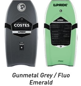 "Pride Bodyboards Pride Bodyboards The Answer PP 2014 41"" Radial Flex Gunmetal Grey / Fluo Emerald Pierre-Louis Costes Collection"