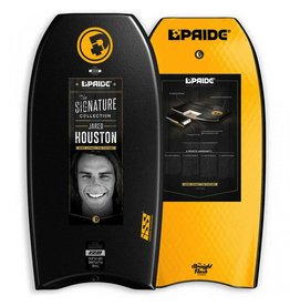"Pride Bodyboards Pride Bodyboards The Straight Flush 2016 41"" Black / Orange Jared Houston Collection"