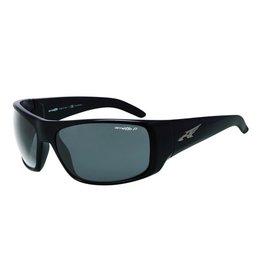 Arnette Arnette La Pistola - Gloss Black | Polarized Grey Sunglasses