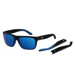 Arnette Arnette Dropout - Fuzzy Black Fade/Gummy Blueberry - Blue Mirror Sunglasses
