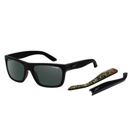 Arnette Arnette Dropout - Fuzzy Black/Camo | Grey/Green Sunglasses