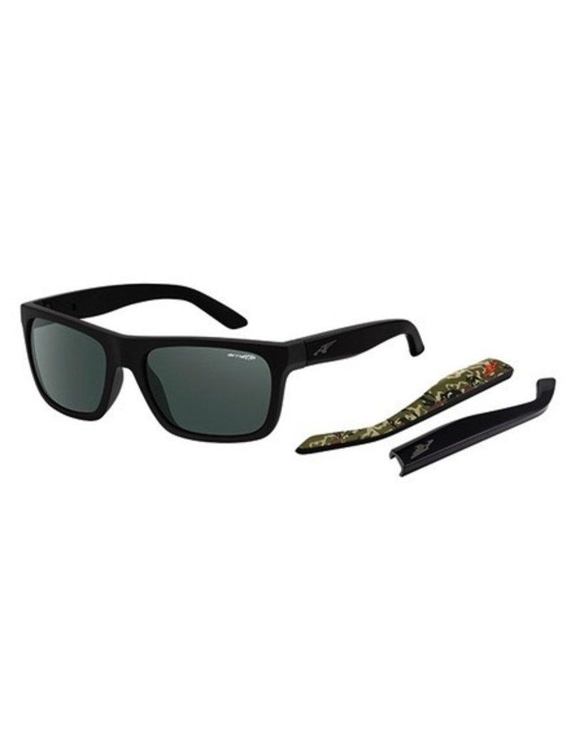 Arnette Arnette Dropout - Fuzzy Black/Camo | Grey/Green Sunglasses