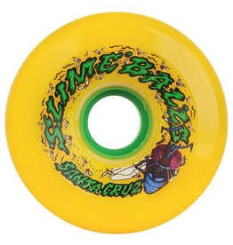 Santa Cruz Santa Cruz Slime Balls Roadkill 72mm Yellow 78a Skateboard Wheels