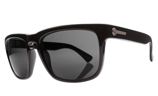 Electric Visual Electric Knoxville Gloss Black Frame Melanin Grey Polarized Level 1 Lens Sunglasses