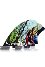 FCS FCS II MB PC Carbon Tri Set Small Graphic Mayhem Matt Biolos Thruster Surfboard Fins