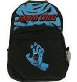 Skate Santa Cruz Screaming Hand Backpack Black/Blue