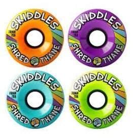 Skate Sector 9 Skiddles 70mm 78a Mix#3  Yellow,Green,Purple,Blue Wheel Set