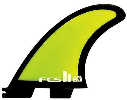 FCS FCS II JW PG Tri Set Thruster Surfboard Fins Medium Julian Wilson