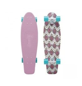 "Skate Nickel 27"" Skateboard Complete Buffy Pink"