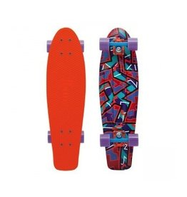"Skate Nickel 27"" Skateboard Complete Spike Orange"