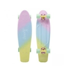 "Skate Nickel 27"" Skateboard Complete Candy Fade Pink/Blue/Lemon"