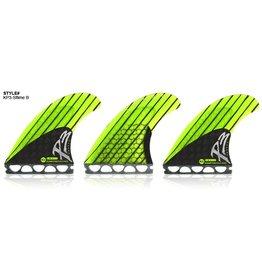 Kinetik Racing Fins Kinetik Racing Fins Phase 3 Small Neon Lime/Black Single Tab S Surfboard Fins