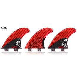 Kinetik Racing Fins Kinetik Racing Fins Phase 3 L Twin Tab Neon Red/Black Surfboard Fins