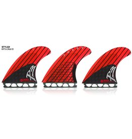 Kinetik Racing Fins Kinetik Racing Fins Phase 3 L Single Tab Neon Red/Black Surfboard Fins