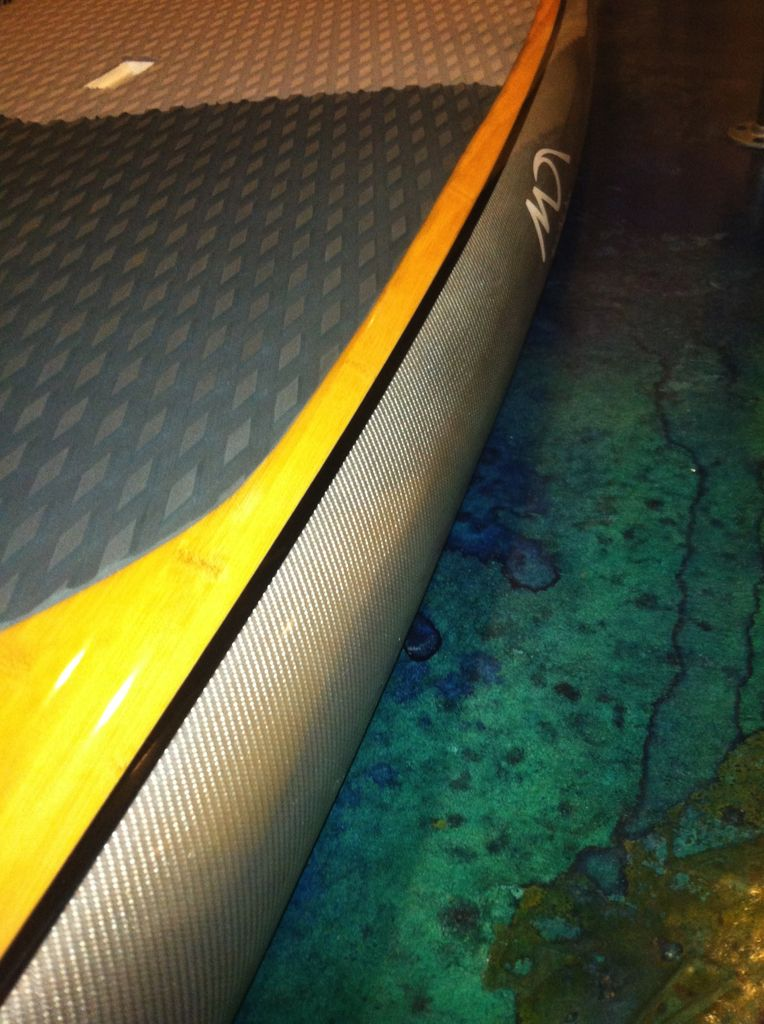 """Dolsey Dolsey 10'8"""" PCG Bamboo Silver Carbon Fiber SUP"""