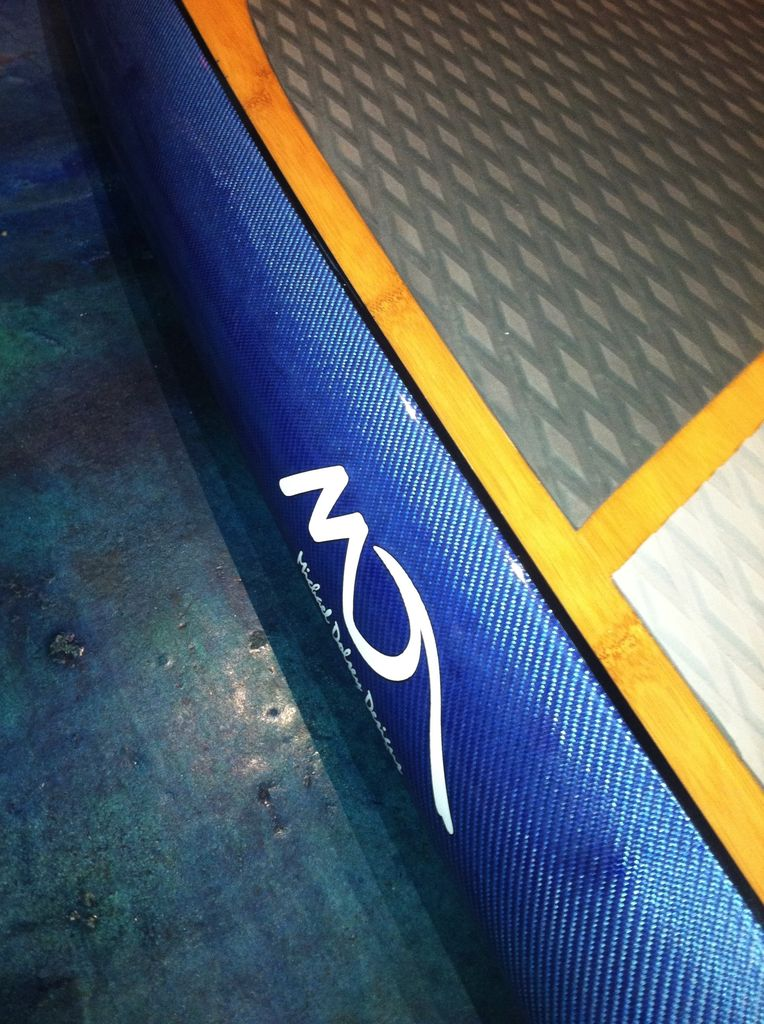 "Dolsey Dolsey 10'0"" PCG Bamboo Light Blue Carbon Fiber SUP"