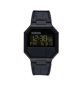 Nixon Nixon Re-Run Leather Watch Black Croc Mens