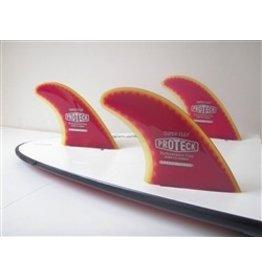 """RDI Pro Teck 4.50"""" Super Flex Thruster Set FCS Surfboard Fins"""