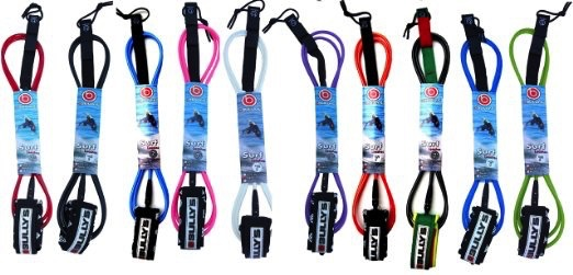 """Bully's Bully's 5'6"""" Micro Comp Shortboard Red Surfboard Leash Enduro"""