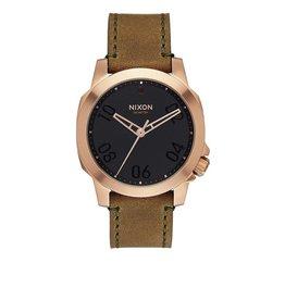 Nixon Nixon Ranger 40 Leather Watch Rose Gold / Brown
