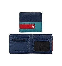 Nixon Nixon Showtime Bi-Fold ID Zip Wallet Navy / Seafoam