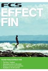 """FCS FCS Dolphin PG Effect Base Fluro 7"""" Fluid Foils Longboard Fin"""
