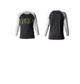 Xcel Boys Velzyland L/S Rashguard UV Protection Heather Black / Alloy Size 12