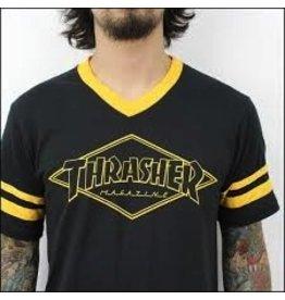 Thrasher Thrasher OG Diamond Ringer T, Black/Gold, S