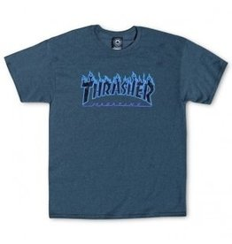 Thrasher Thrasher Flame Logo, SS Shirt, S, Dark Heather