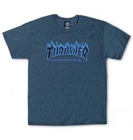 Thrasher Thrasher Flame Logo, SS Shirt, M, Dark Heather