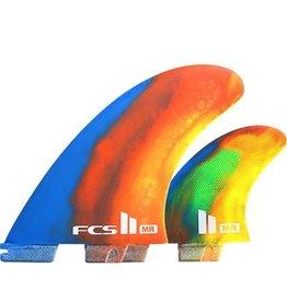 FCS FCS II MR PC Tri Set Surfboard Fins Multi Color Swirl XLarge Mark Richards