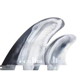 FCS FCS II MR PC Tri Set Surfboard Fins Black/White XLarge Mark Richards